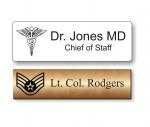 Name tag with logo