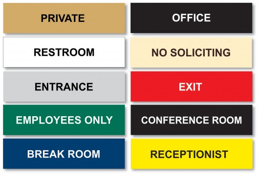 Sample Office Signs