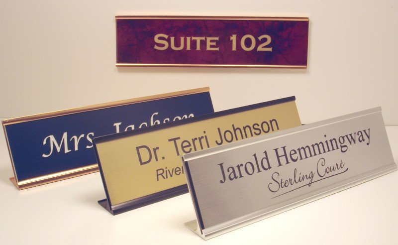 Office Name Plates: Engraved Office Name Plates With Holders At Great Prices